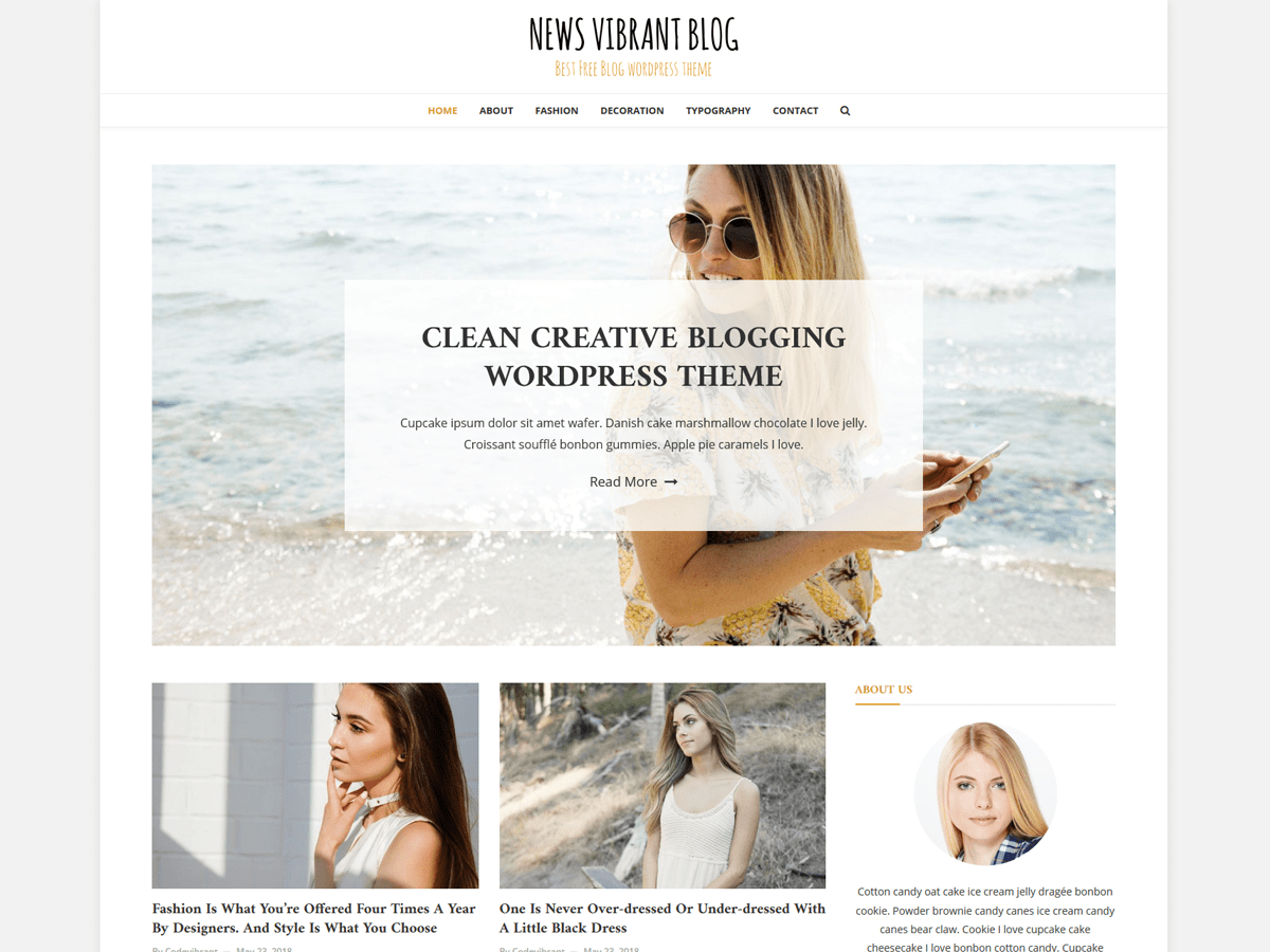 News Vibrant Blog Download Free Wordpress Theme 1