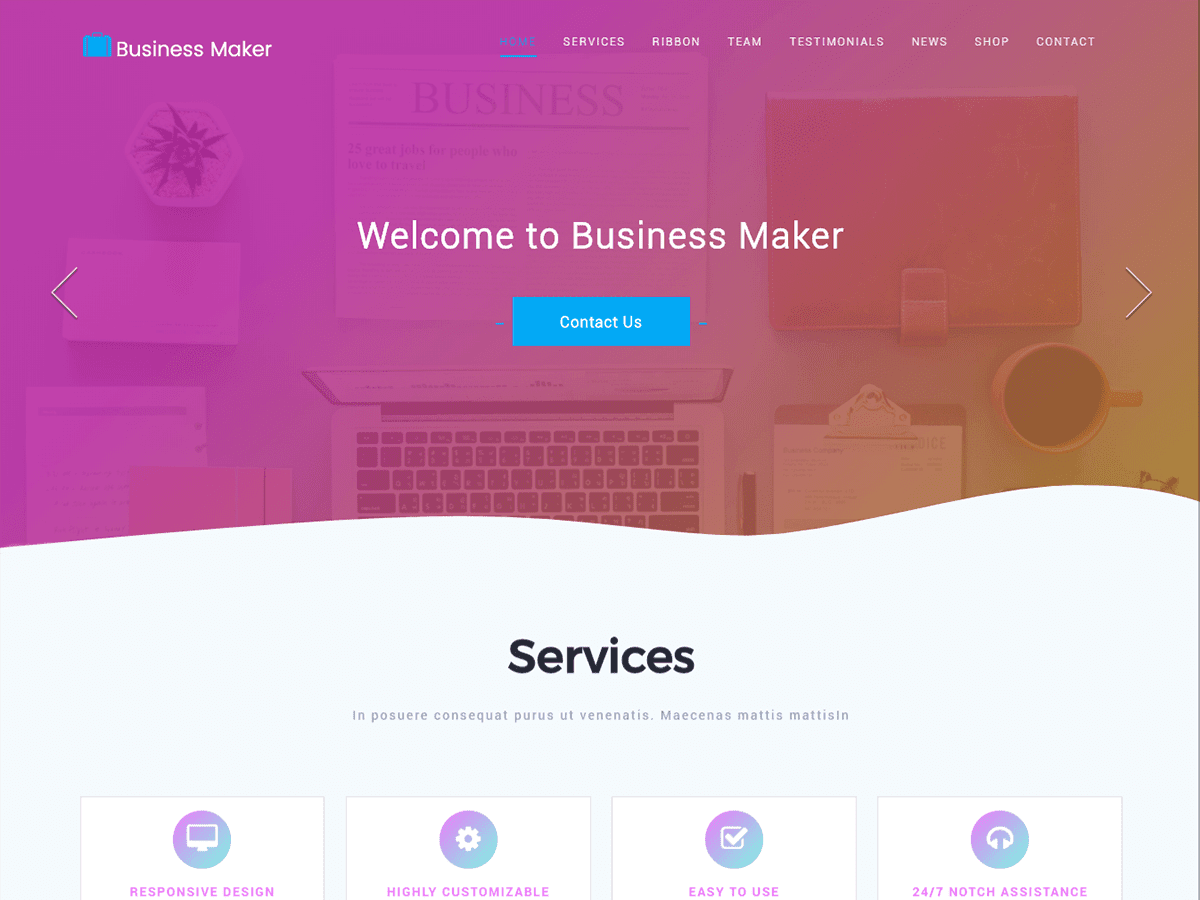 Business Maker Download Free Wordpress Theme 5