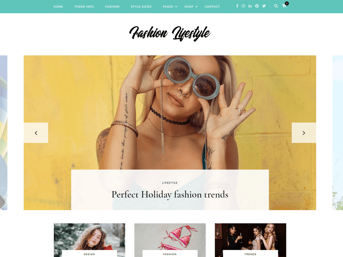 Fashion Lifestyle Download Free Wordpress Theme 2