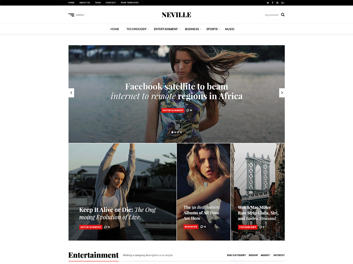Neville Download Free Wordpress Theme 1