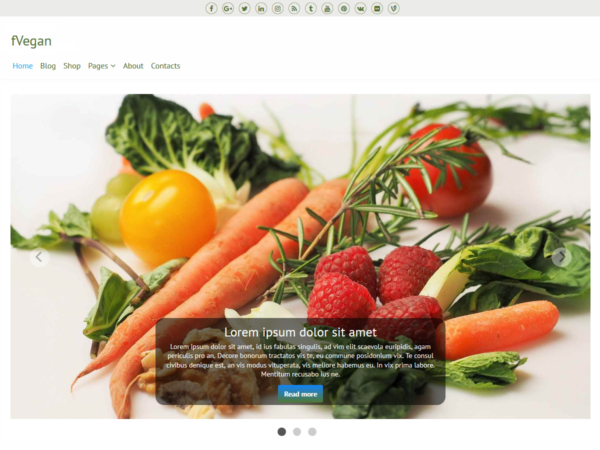 fVegan Download Free Wordpress Theme 3