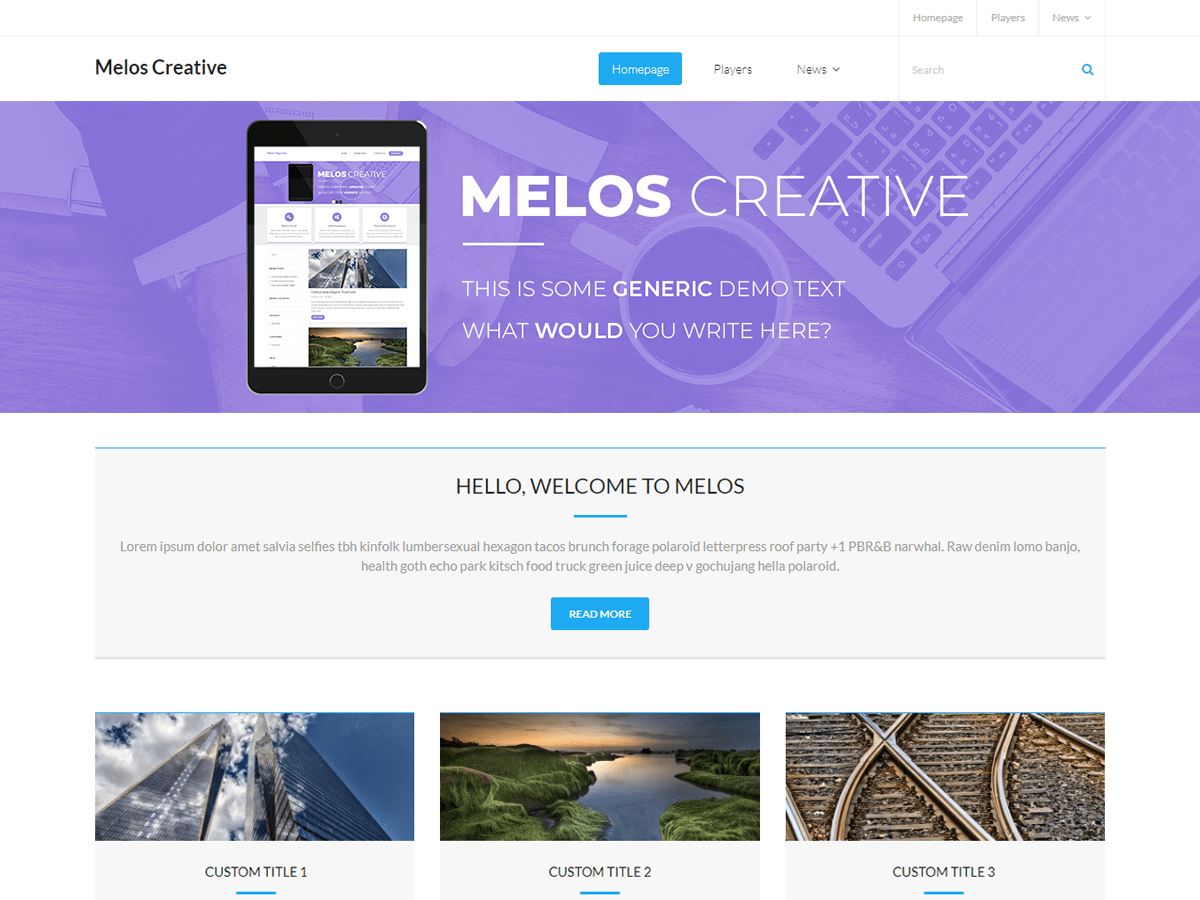Melos Creative Download Free Wordpress Theme 4