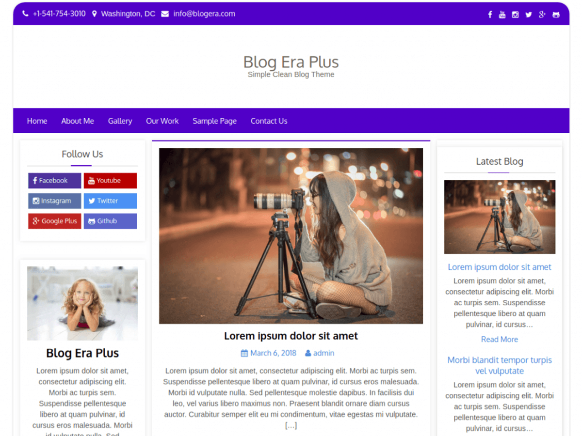 Blog Era Plus Download Free Wordpress Theme 1