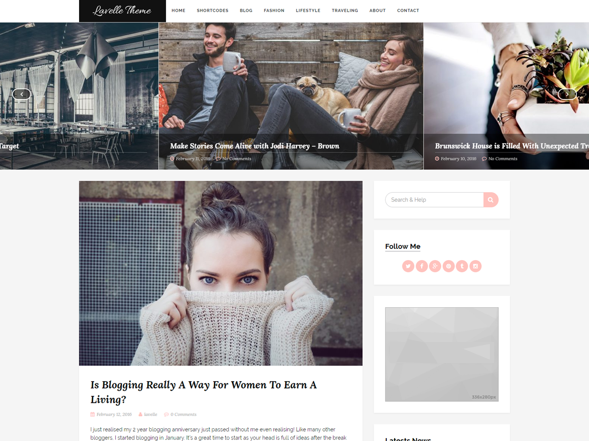 Lavelle Download Free Wordpress Theme 3