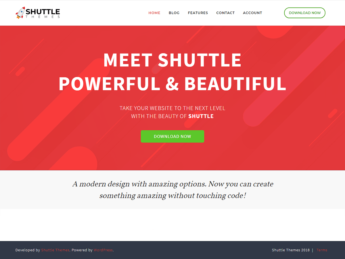 Shuttle Red Download Free Wordpress Theme 2