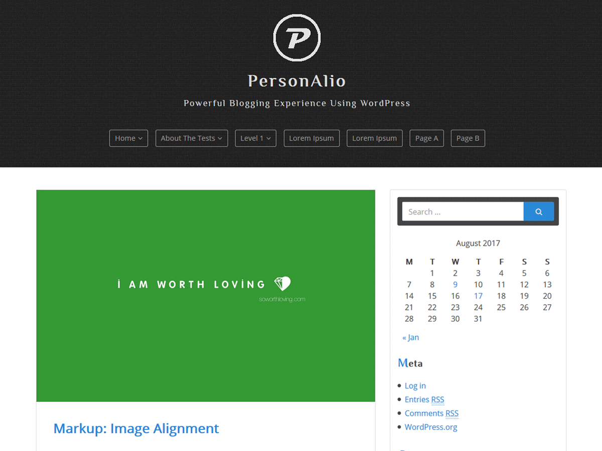 Personalio Download Free Wordpress Theme 3