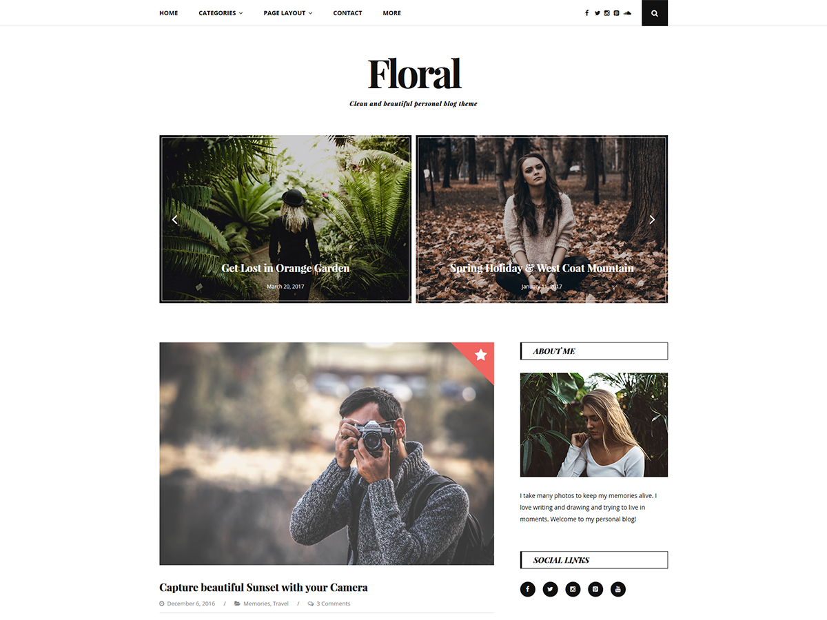 Floral Lite Download Free Wordpress Theme 3