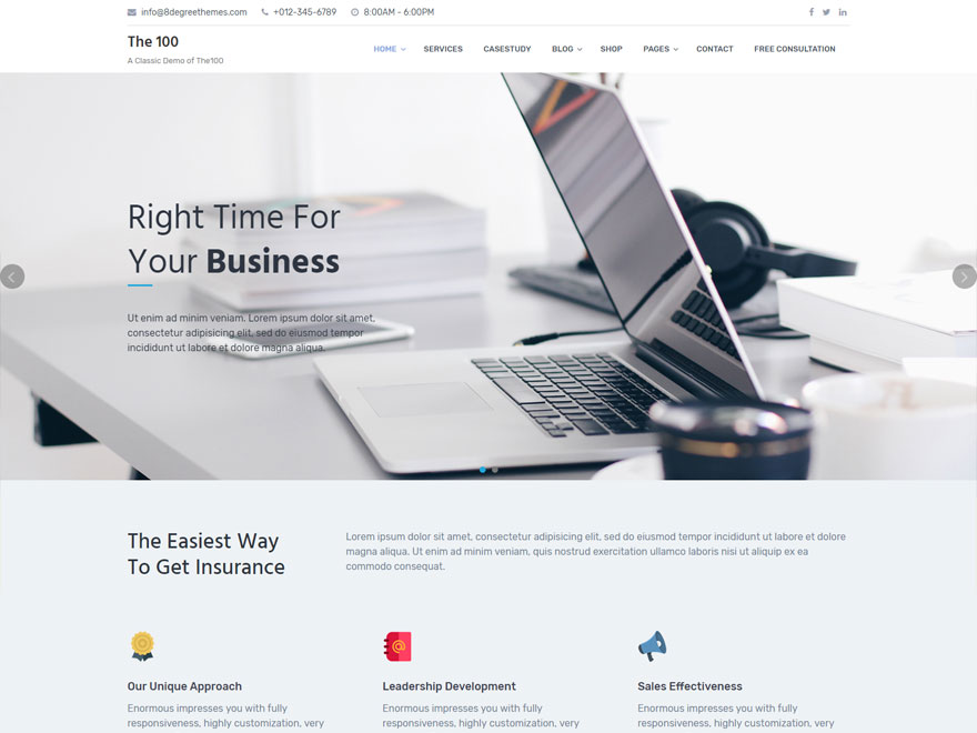 The100 Download Free Wordpress Theme 1