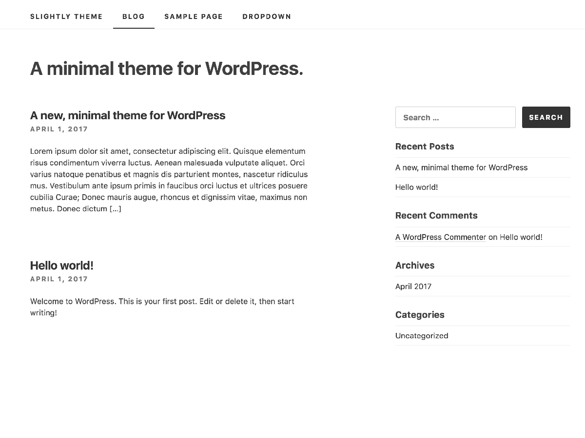 Slightly Download Free Wordpress Theme 1