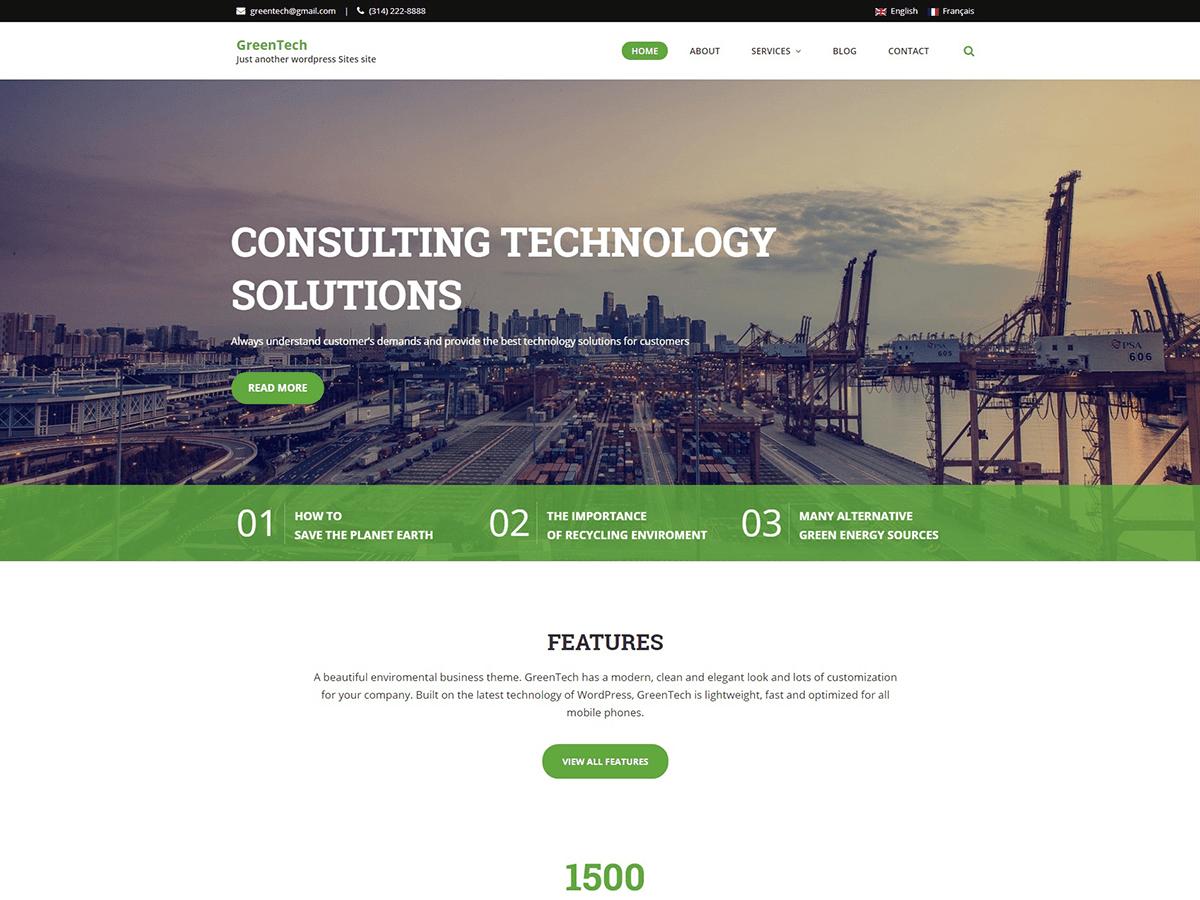 GreenTech Lite Download Free Wordpress Theme 3