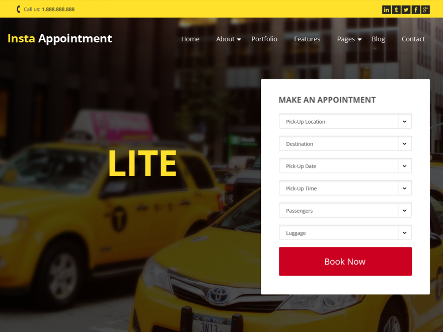InstaAppointment Lite Download Free Wordpress Theme 2
