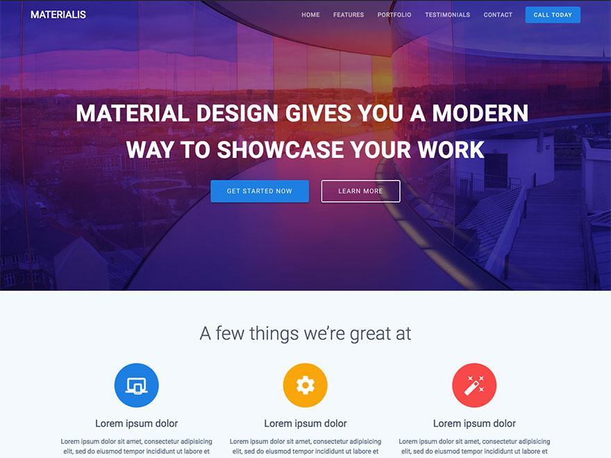 Materialis Download Free Wordpress Theme 4