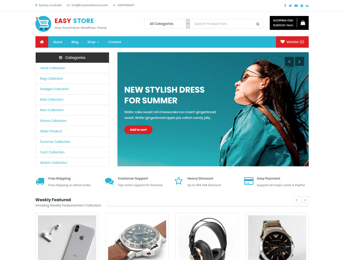 Easy Store Download Free Wordpress Theme 1