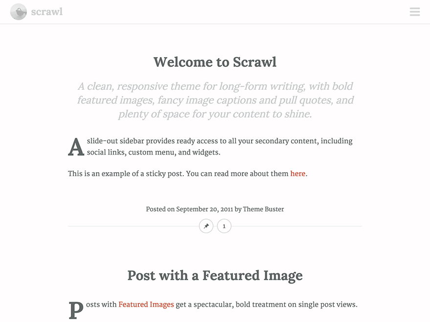 Scrawl Download Free Wordpress Theme 3
