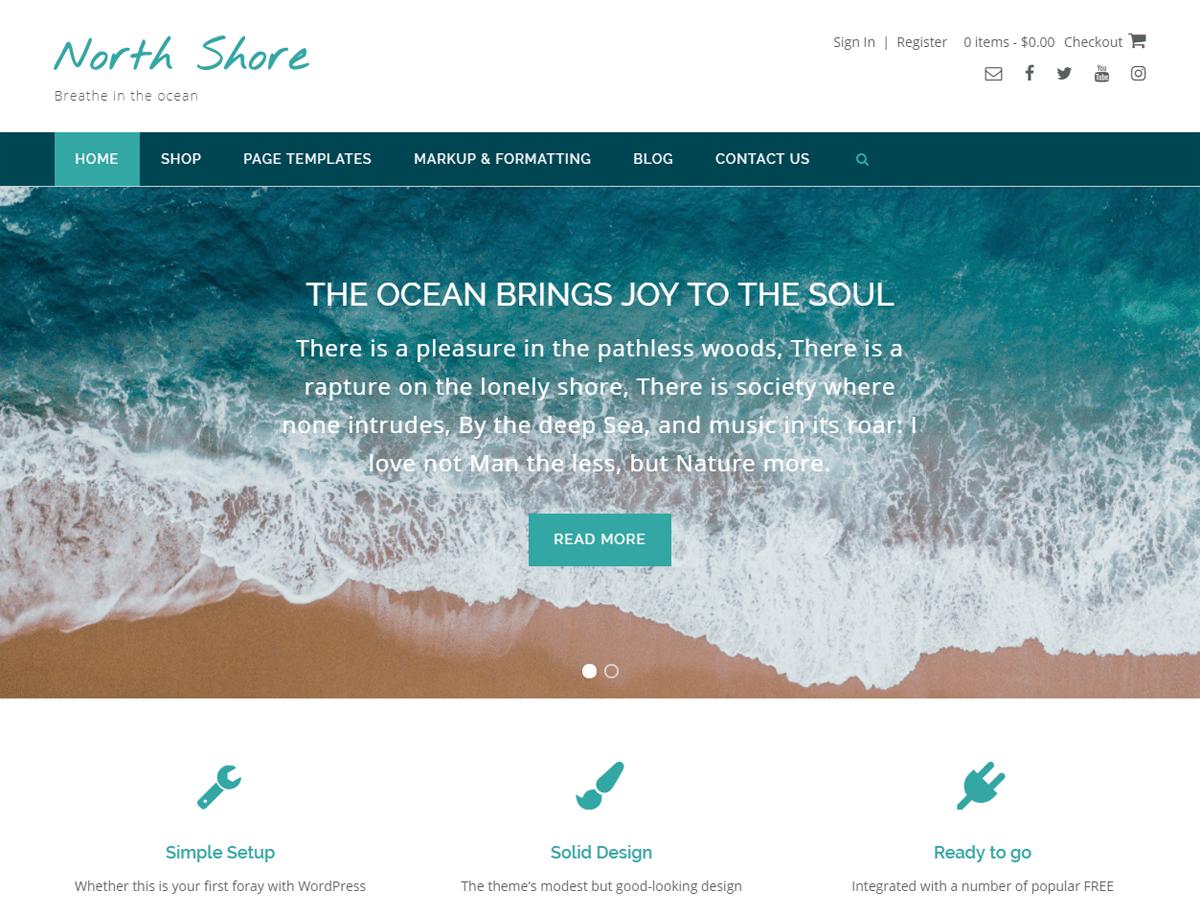 North Shore Download Free Wordpress Theme 3
