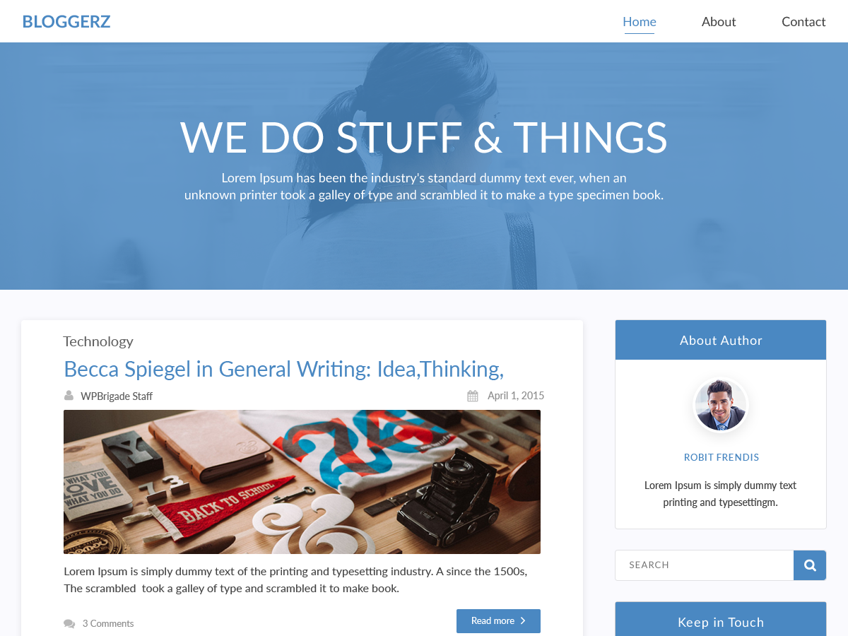 Bloggerz Download Free Wordpress Theme 1