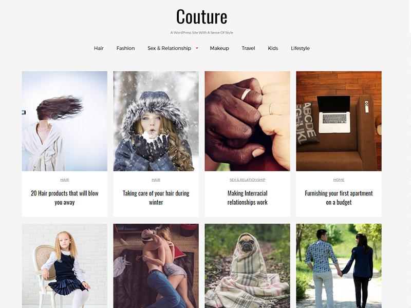 couture Download Free Wordpress Theme 5