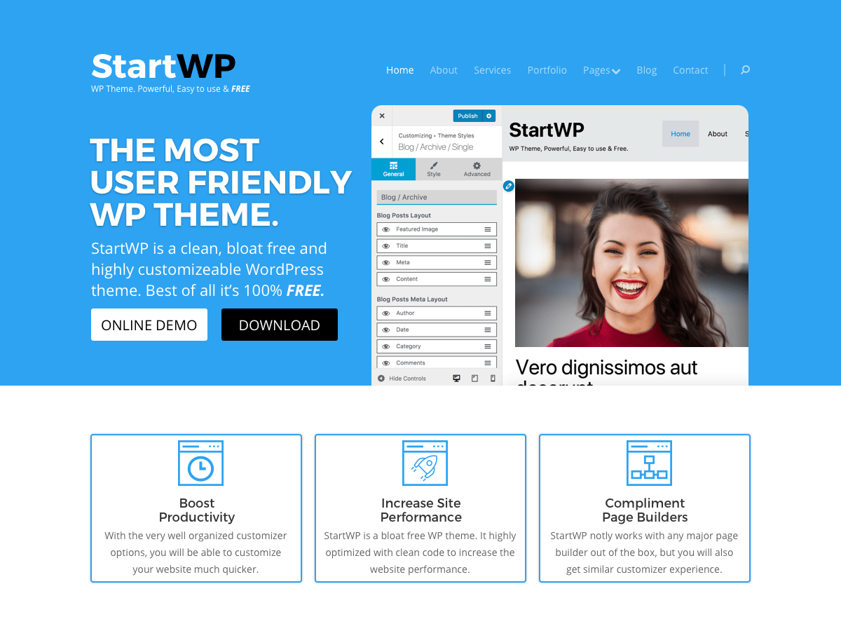 start Download Free Wordpress Theme 1