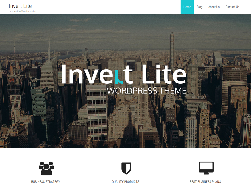 Invert Lite Download Free Wordpress Theme 1
