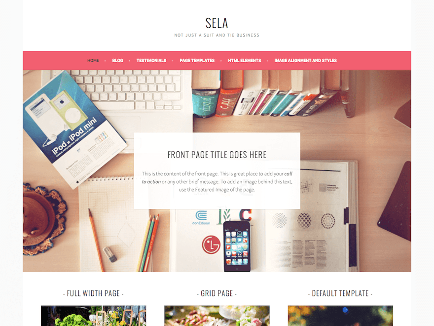 Sela Download Free Wordpress Theme 4