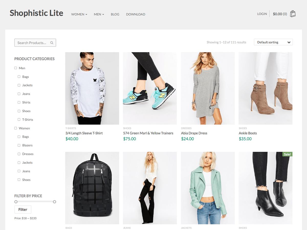 Shophistic Lite Download Free Wordpress Theme 1