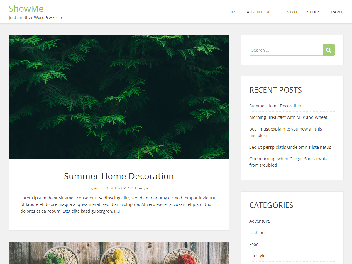 ShowMe Download Free Wordpress Theme 2