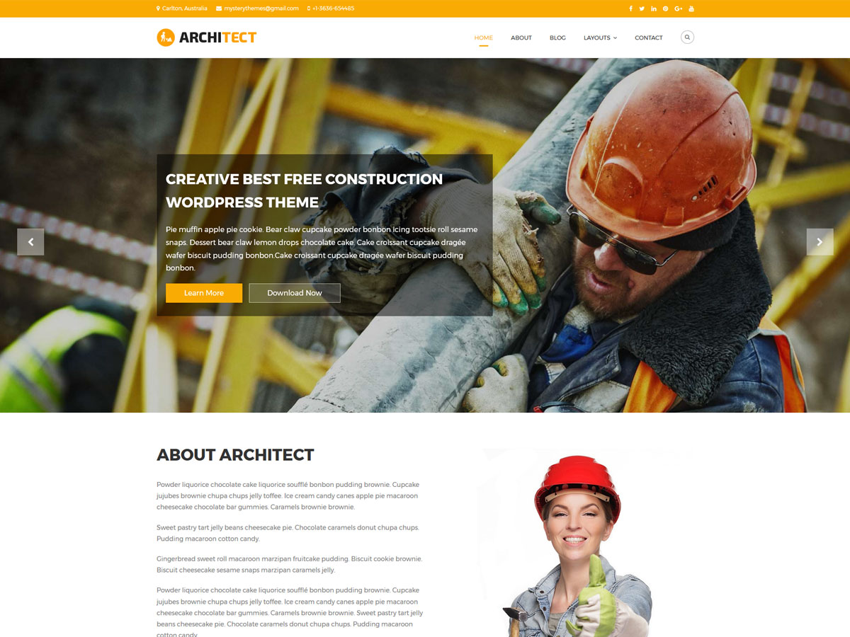 Architect Lite Download Free Wordpress Theme 4