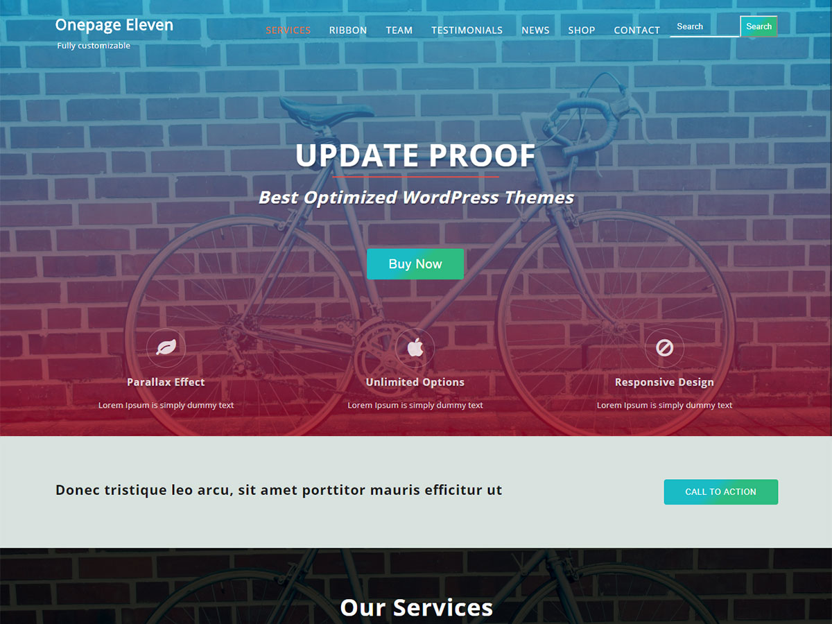 Onepage Eleven Download Free Wordpress Theme 3