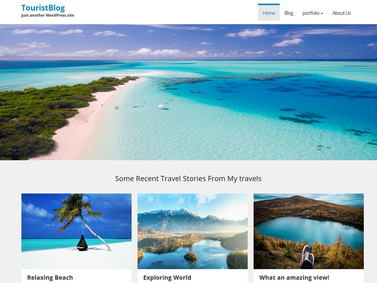 TouristBlog Download Free Wordpress Theme 1