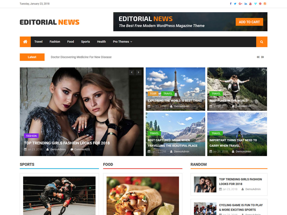 Editorial News Download Free Wordpress Theme 1