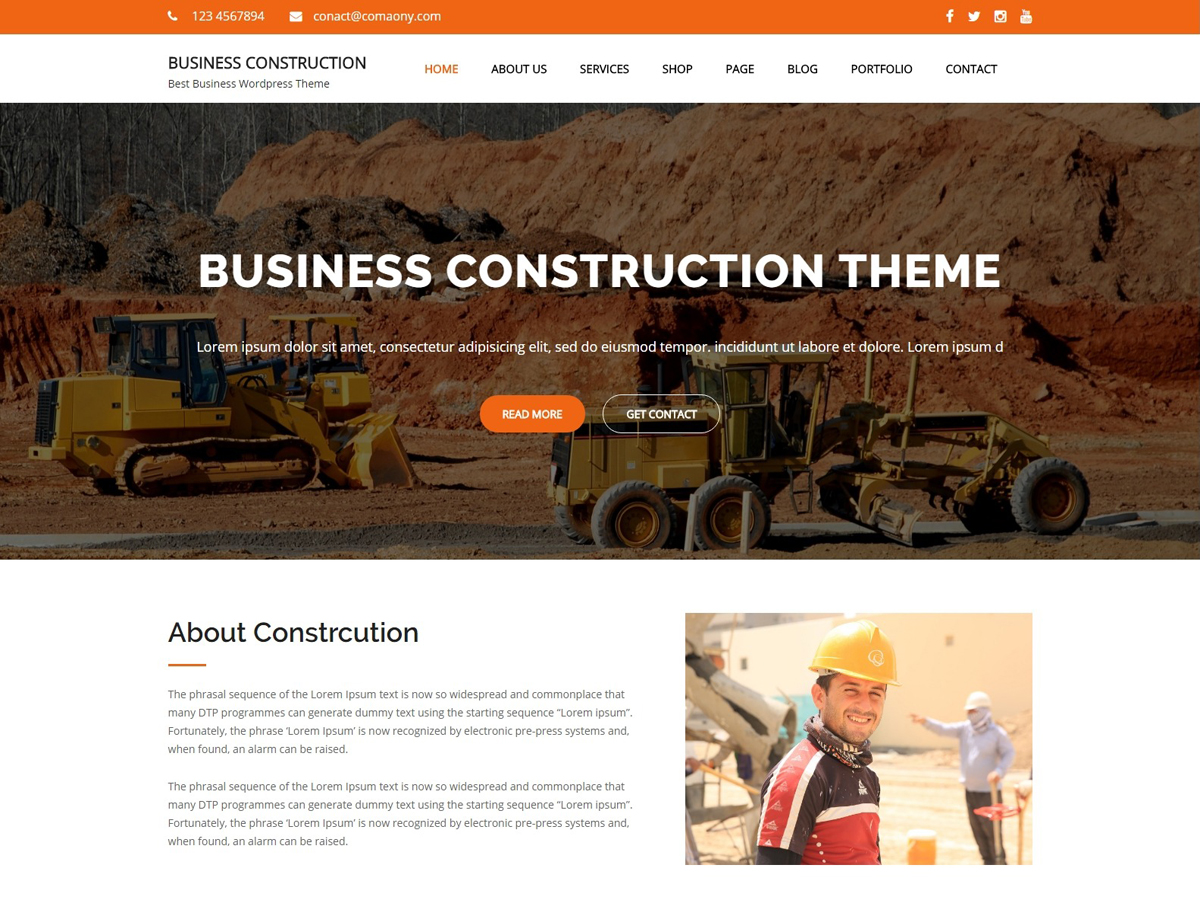 Business Construction Download Free Wordpress Theme 5