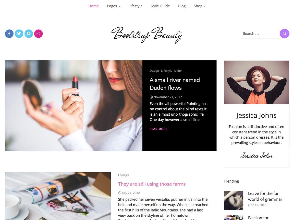 Bootstrap Beauty Download Free Wordpress Theme 3