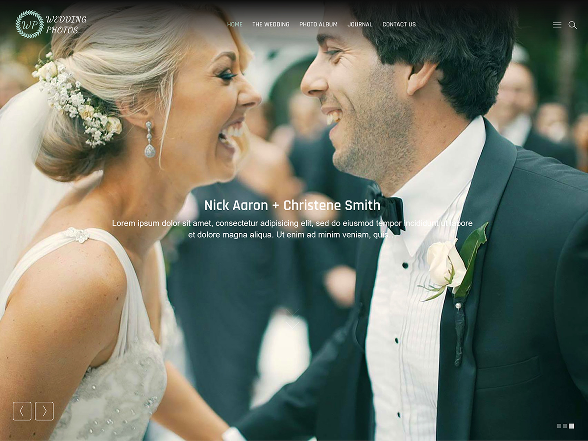 Wedding Photos Download Free Wordpress Theme 4