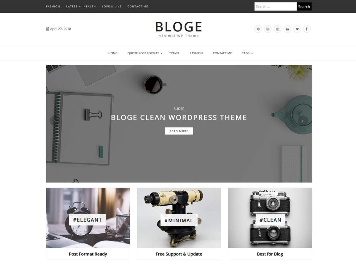 Bloge Download Free Wordpress Theme 4