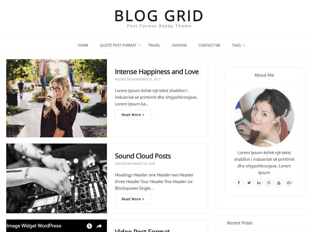 Blog Grid Download Free Wordpress Theme 3