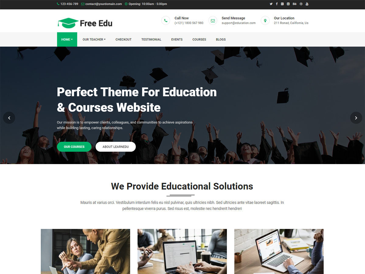 Free Education Download Free Wordpress Theme 2