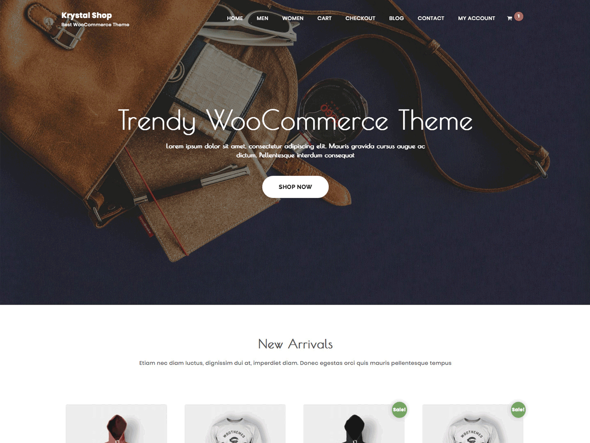 Krystal Shop Download Free Wordpress Theme 3