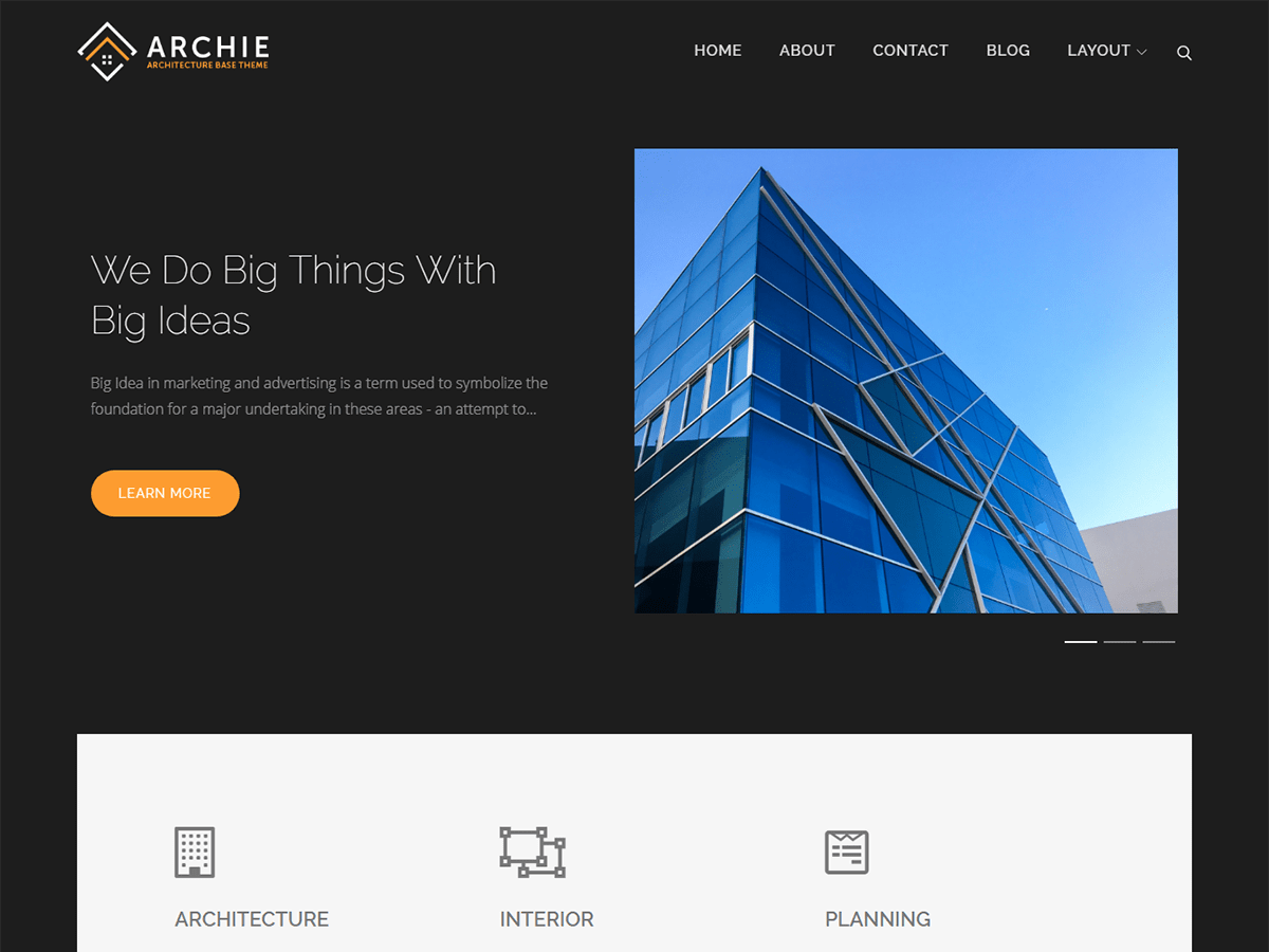Archie Download Free Wordpress Theme 3