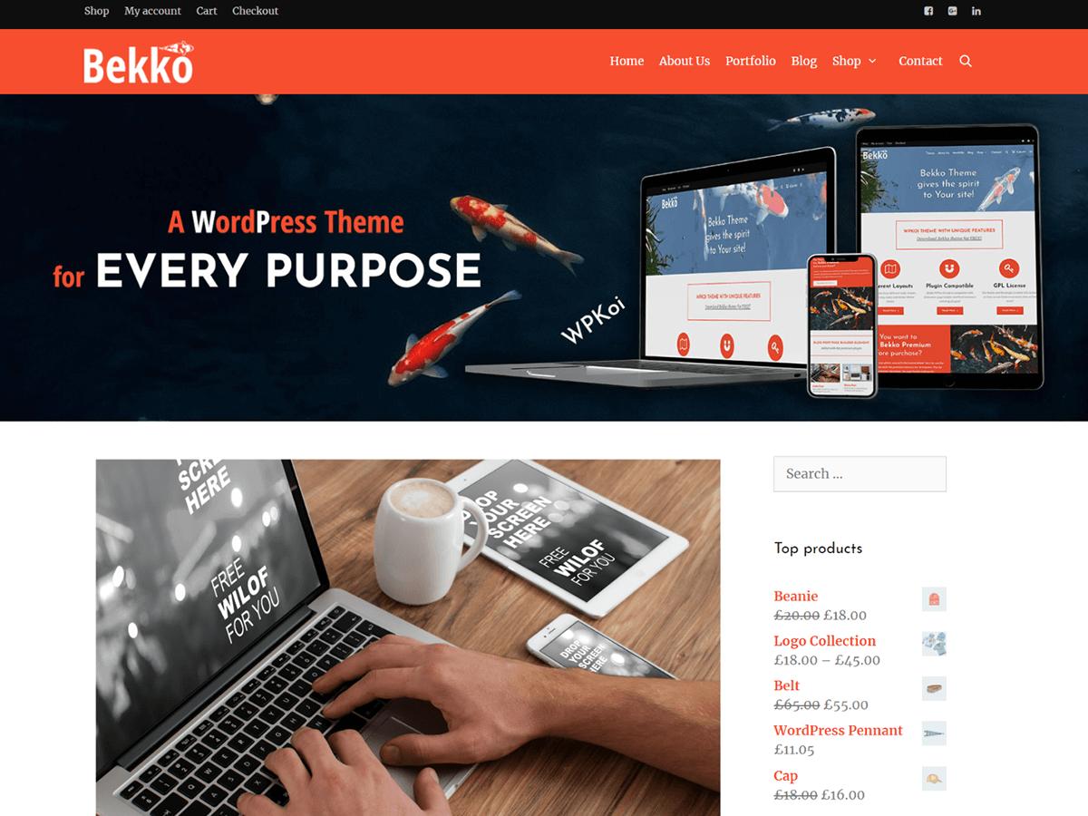 Bekko Download Free Wordpress Theme 4