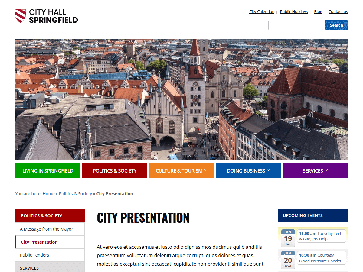 City Hall Download Free Wordpress Theme 1