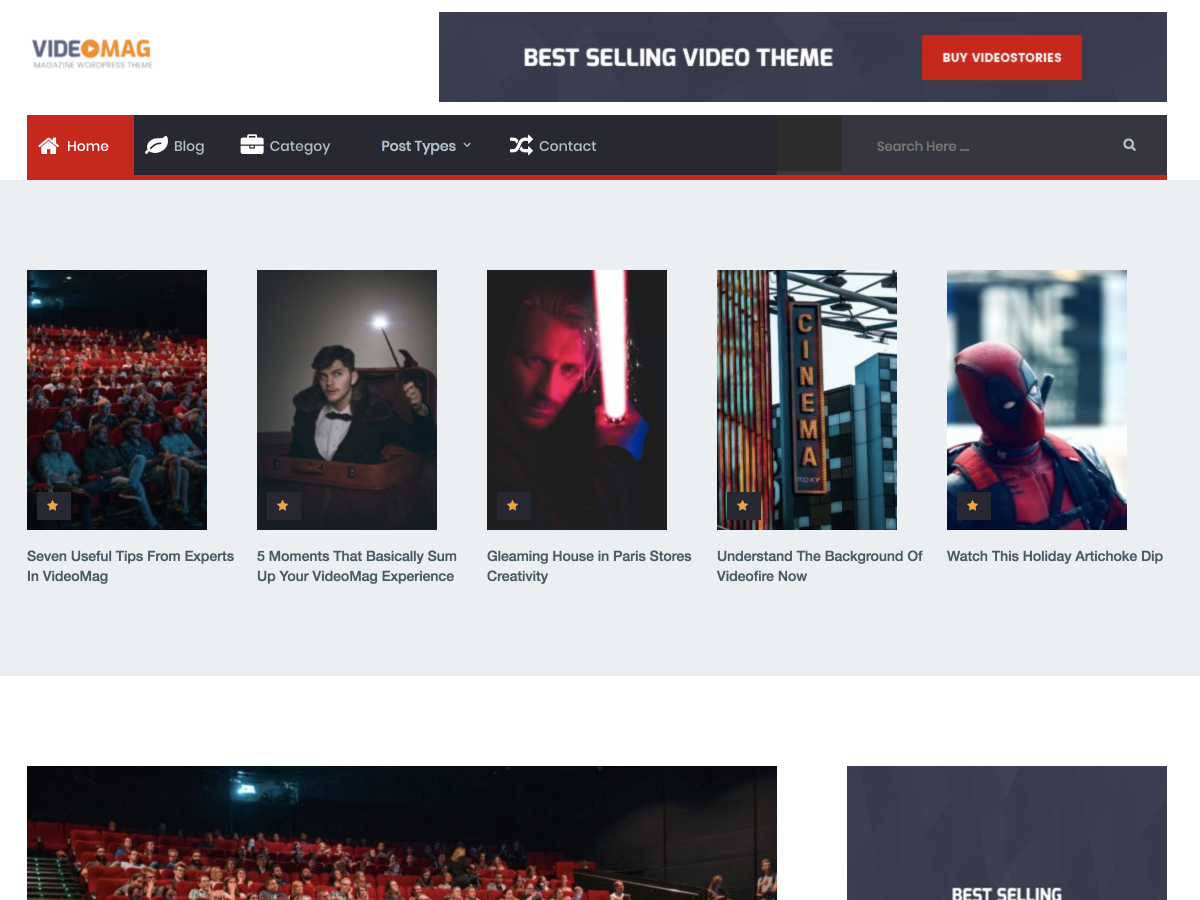 VideoMag Download Free Wordpress Theme 2