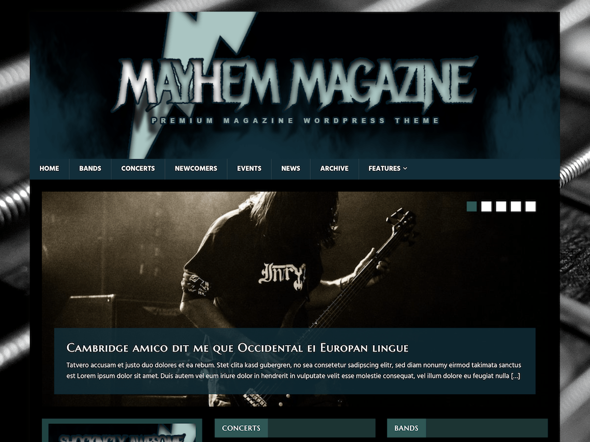 MH MusicMag Download Free Wordpress Theme 1