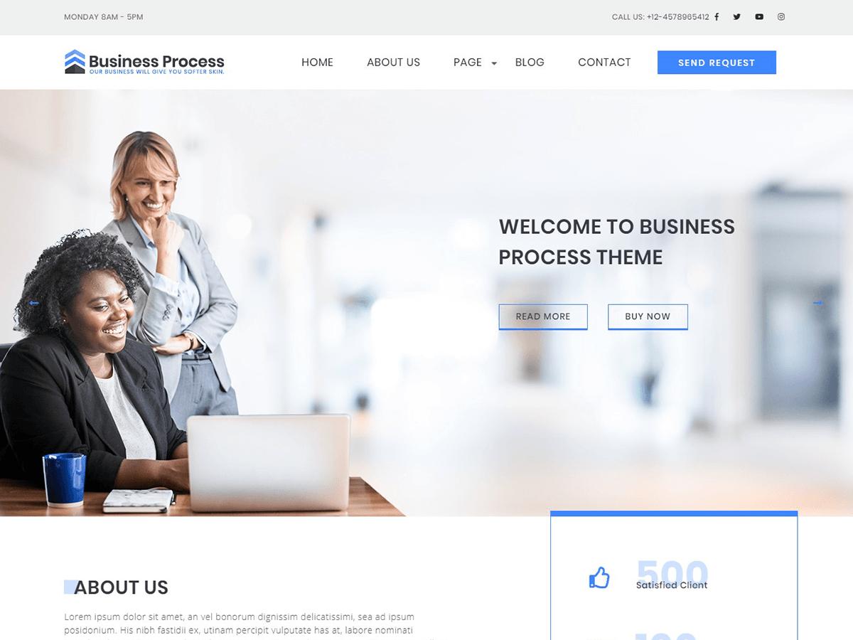 Business Process Download Free Wordpress Theme 4
