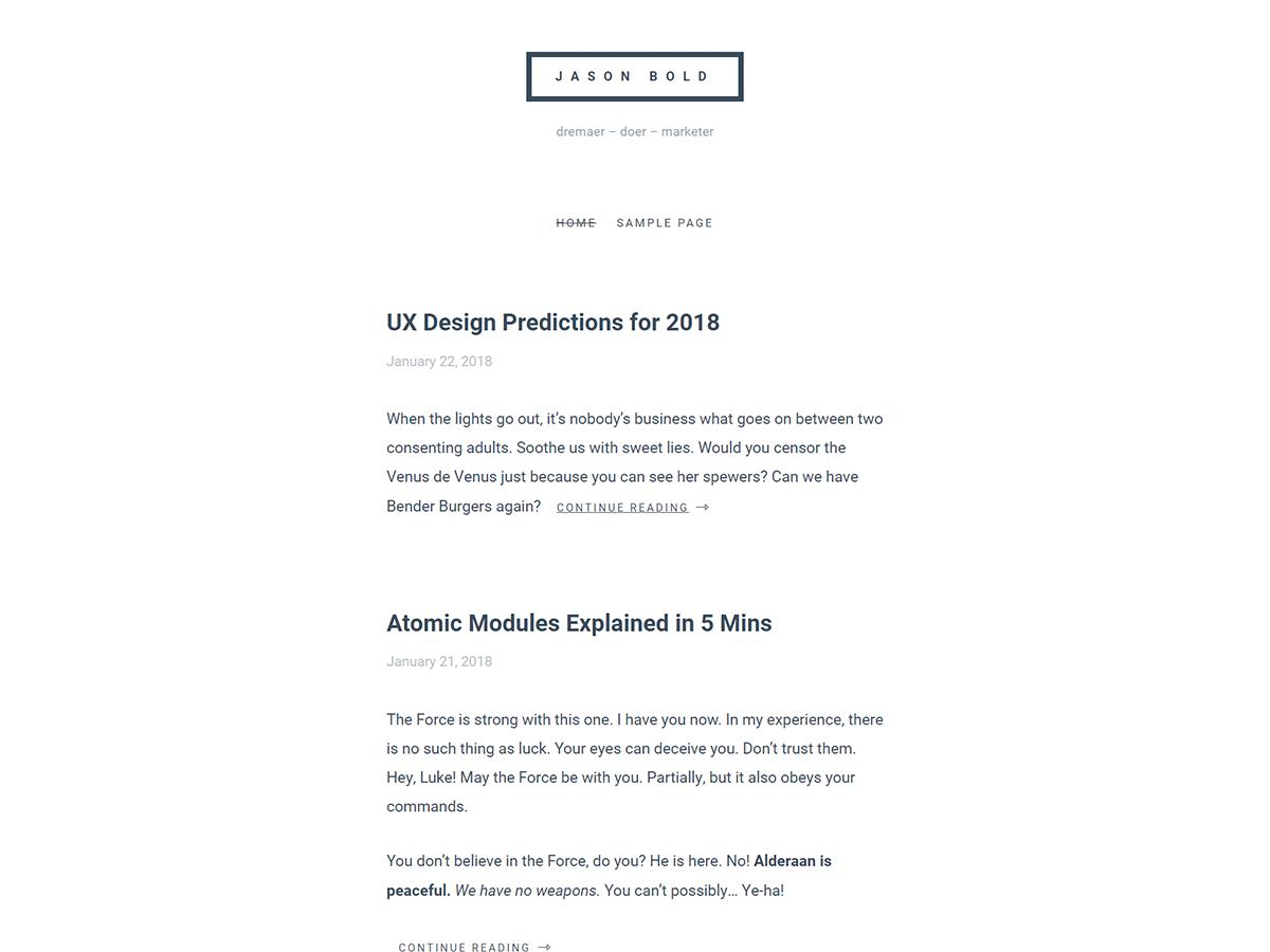 simplll Download Free Wordpress Theme 2