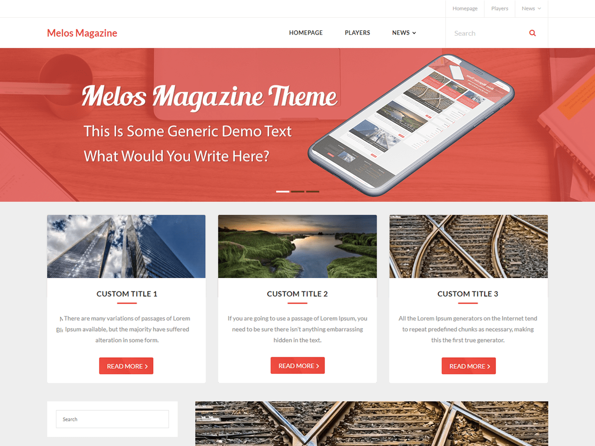 Melos Magazine Download Free Wordpress Theme 2