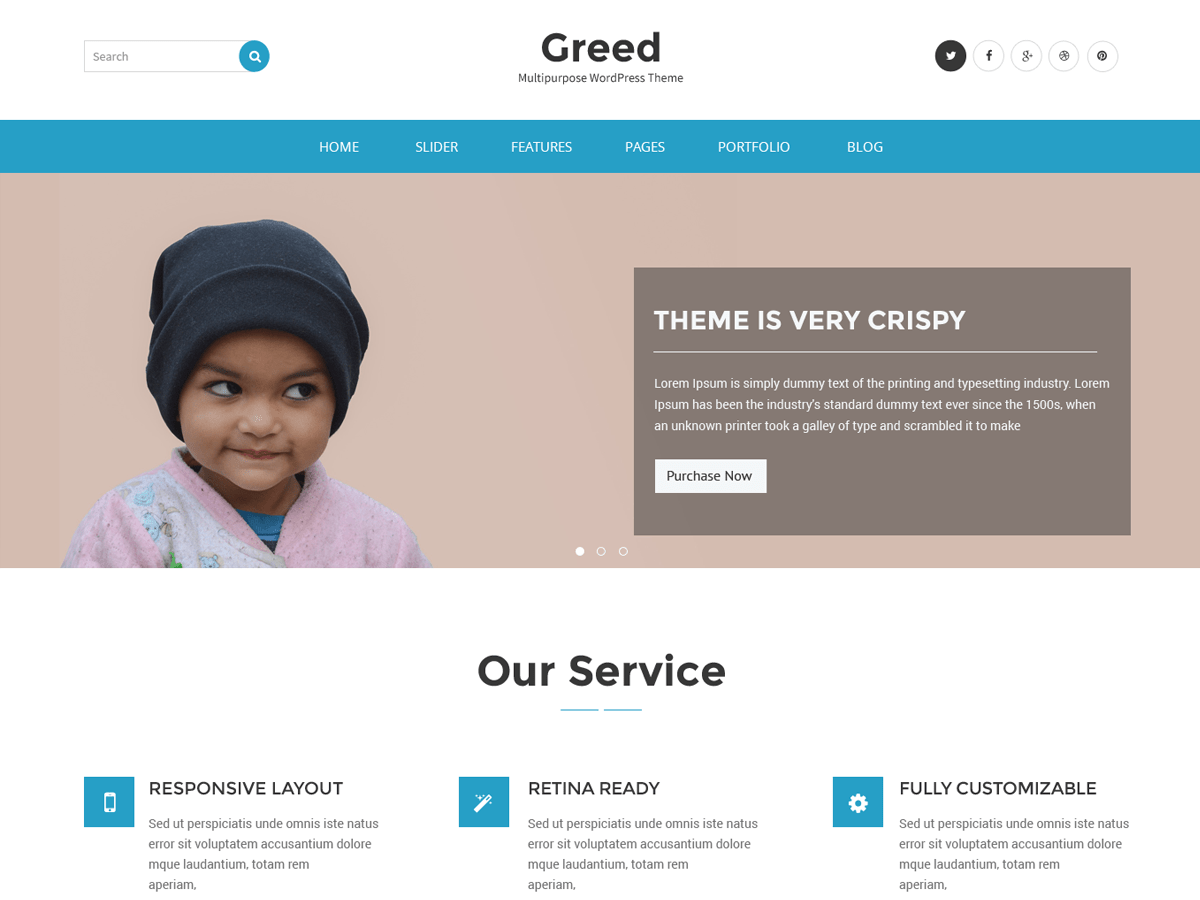 Greed Download Free Wordpress Theme 1