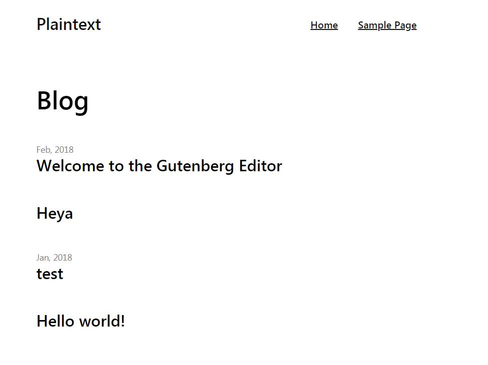PlainText Download Free Wordpress Theme 2
