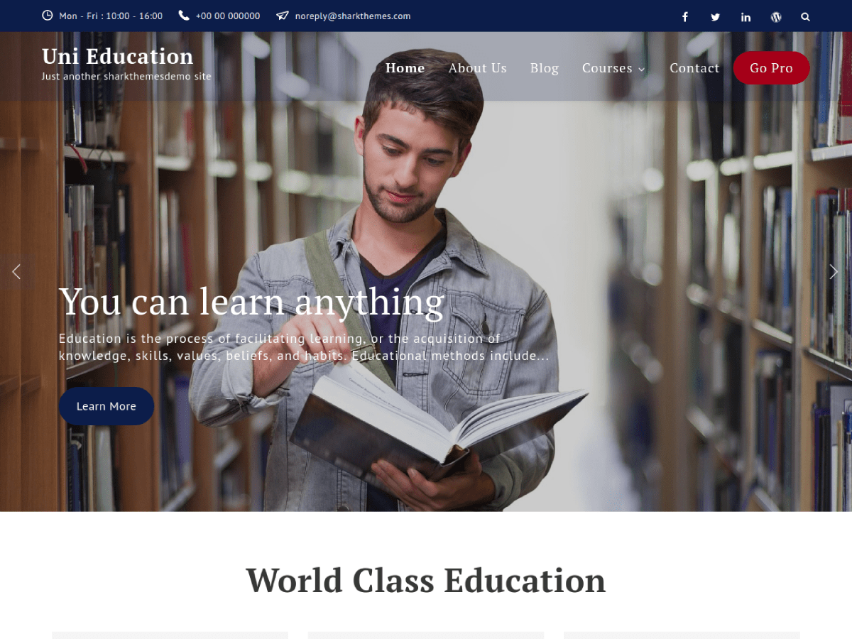 Uni Education Download Free Wordpress Theme 5