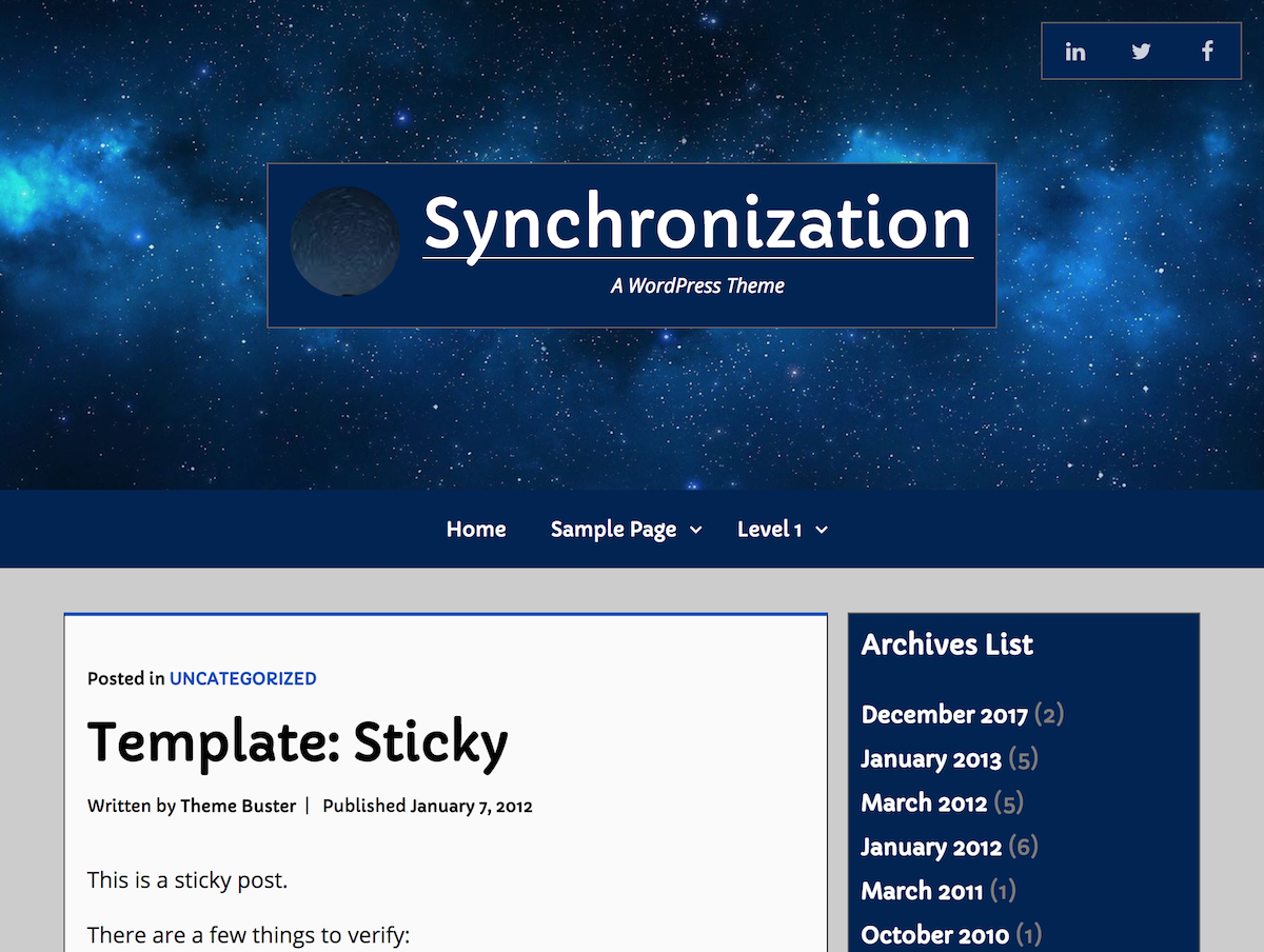 Synchronization Download Free Wordpress Theme 1