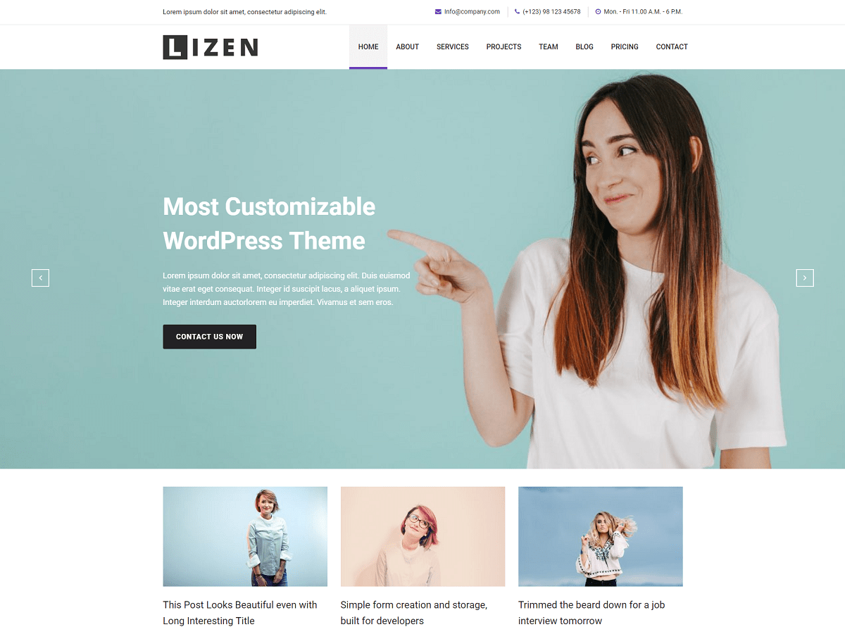Lizen Download Free Wordpress Theme 5